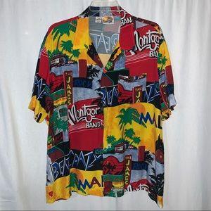 Vtg Kennington California Malibu Rayon Shirt Sz XL